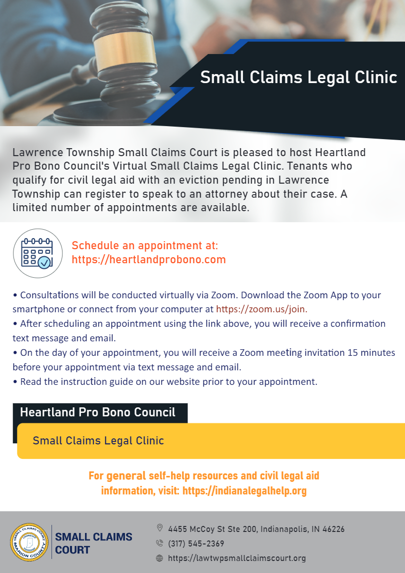 Small Claims Legal Clinic